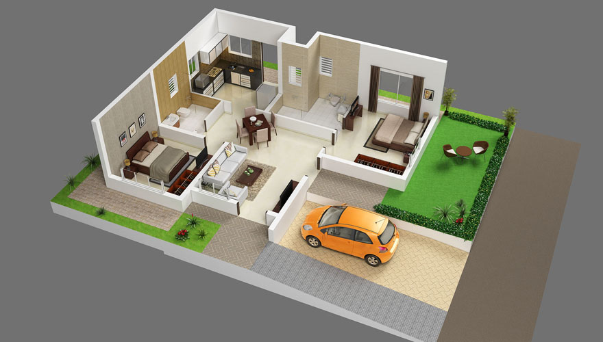 2 bhk for sale at hosur on ring road mookandapalli zeel for Design of 2bhk house